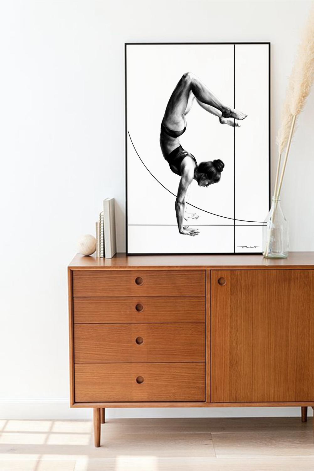 plakat joga | Vrschikasana | pozycja Skorpiona - zew.gallery | JestemSlow.pl
