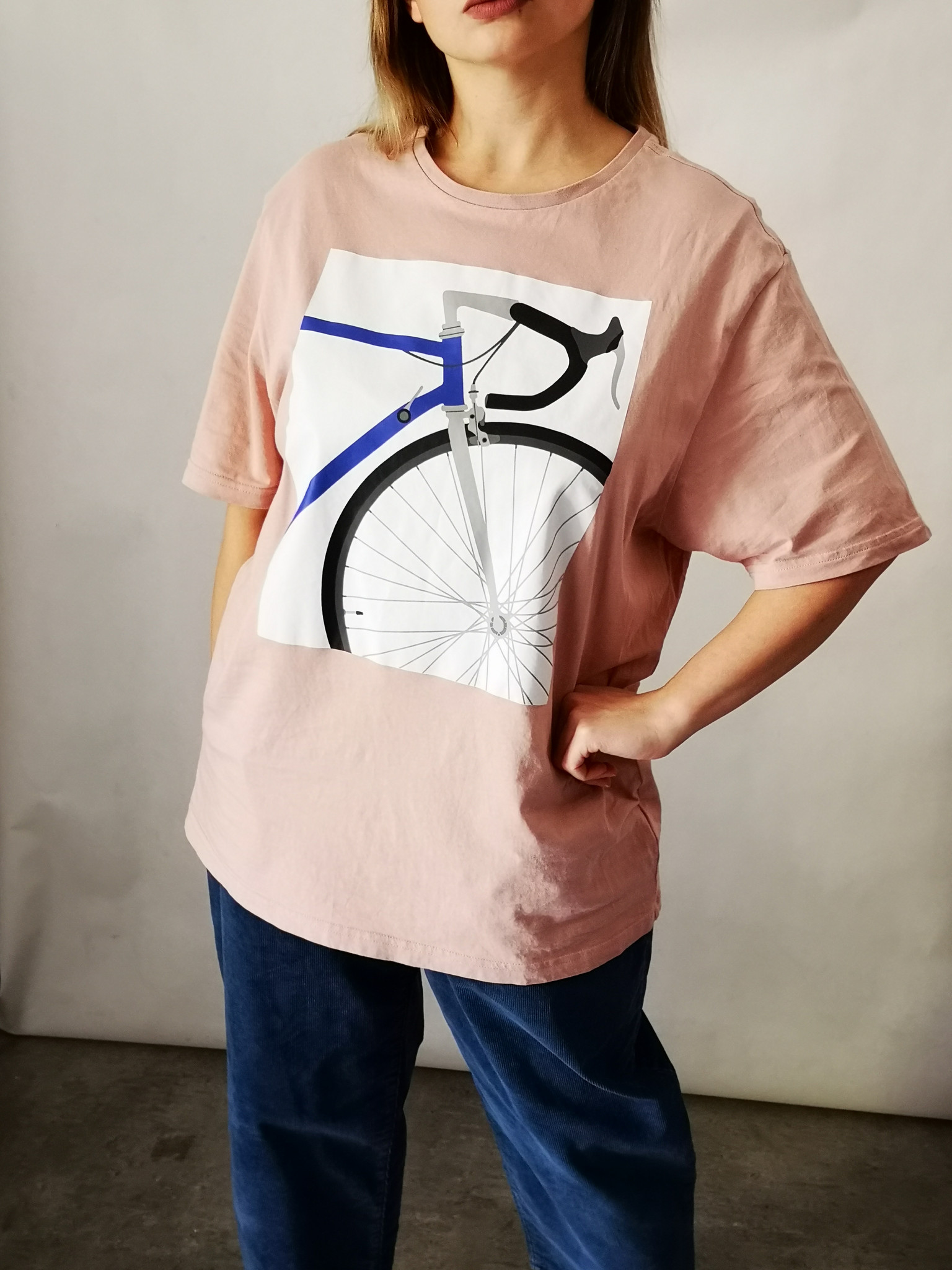 t-shirt oversize rower - Nie byle | JestemSlow.pl