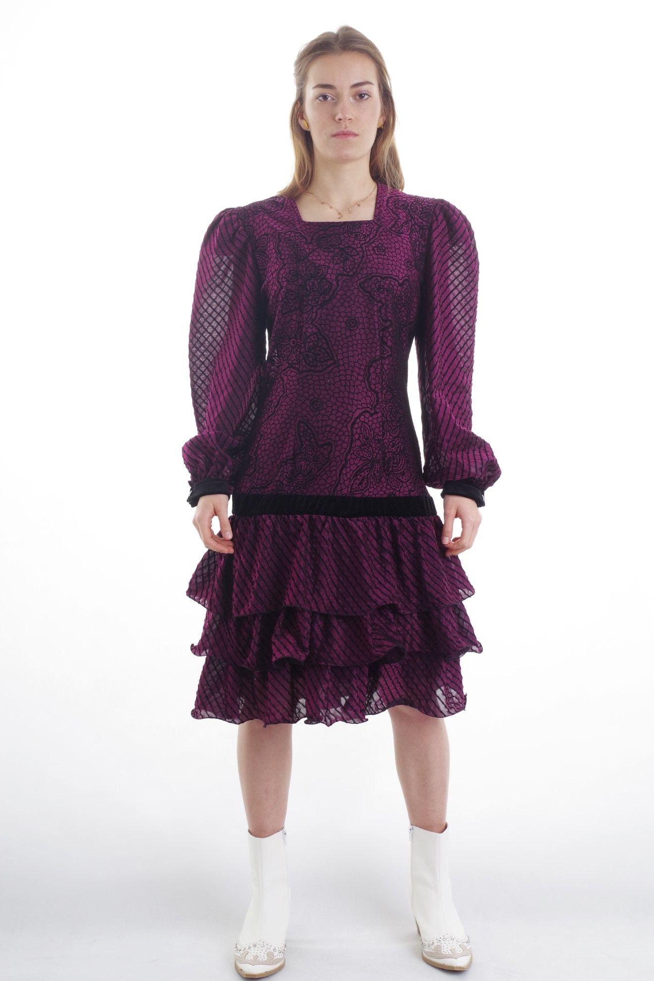 Sukienka z falbankami - KEX Vintage Store | JestemSlow.pl