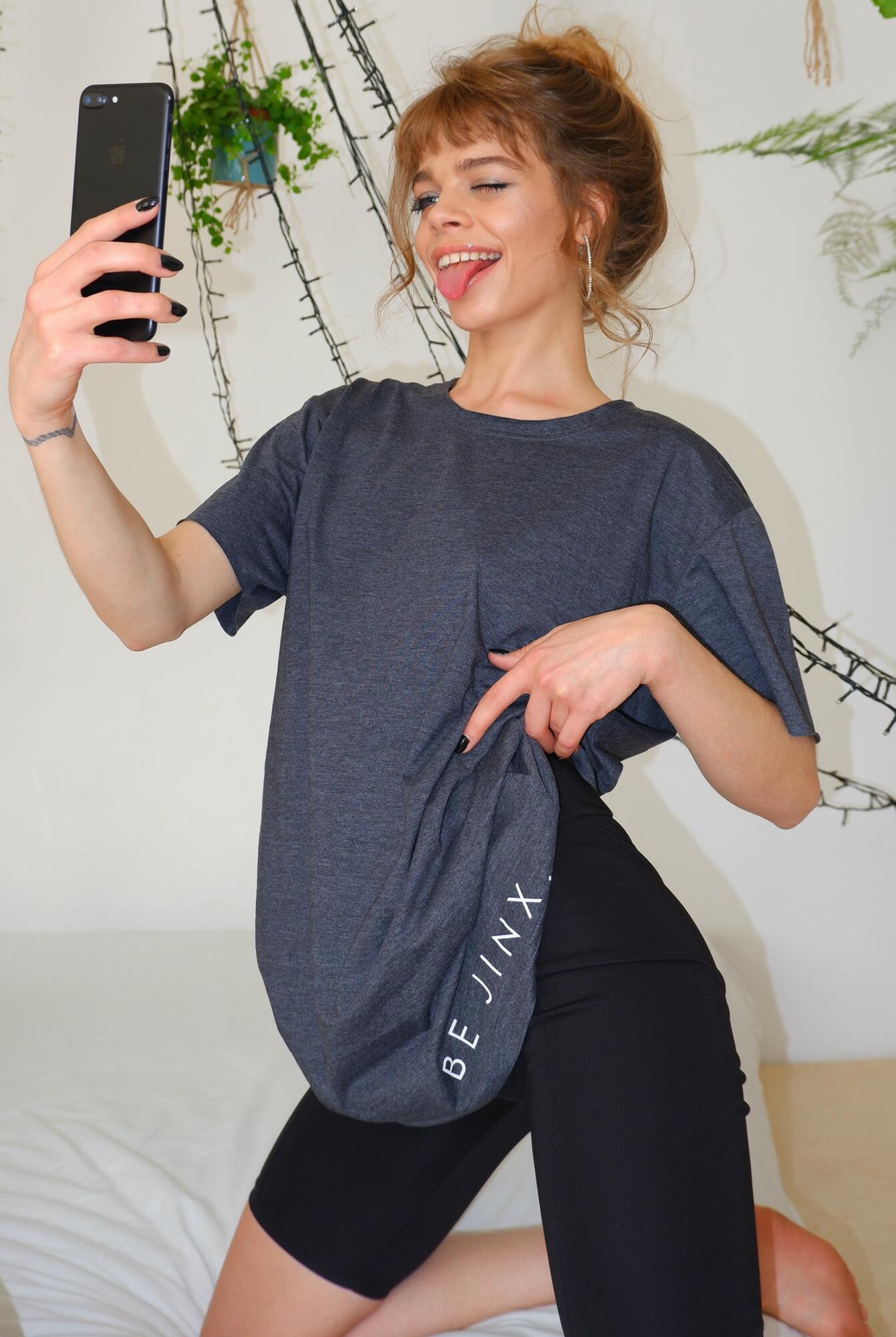 Koszulka z bawełny ekologicznej szara - Jimmy Jinx | JestemSlow.pl