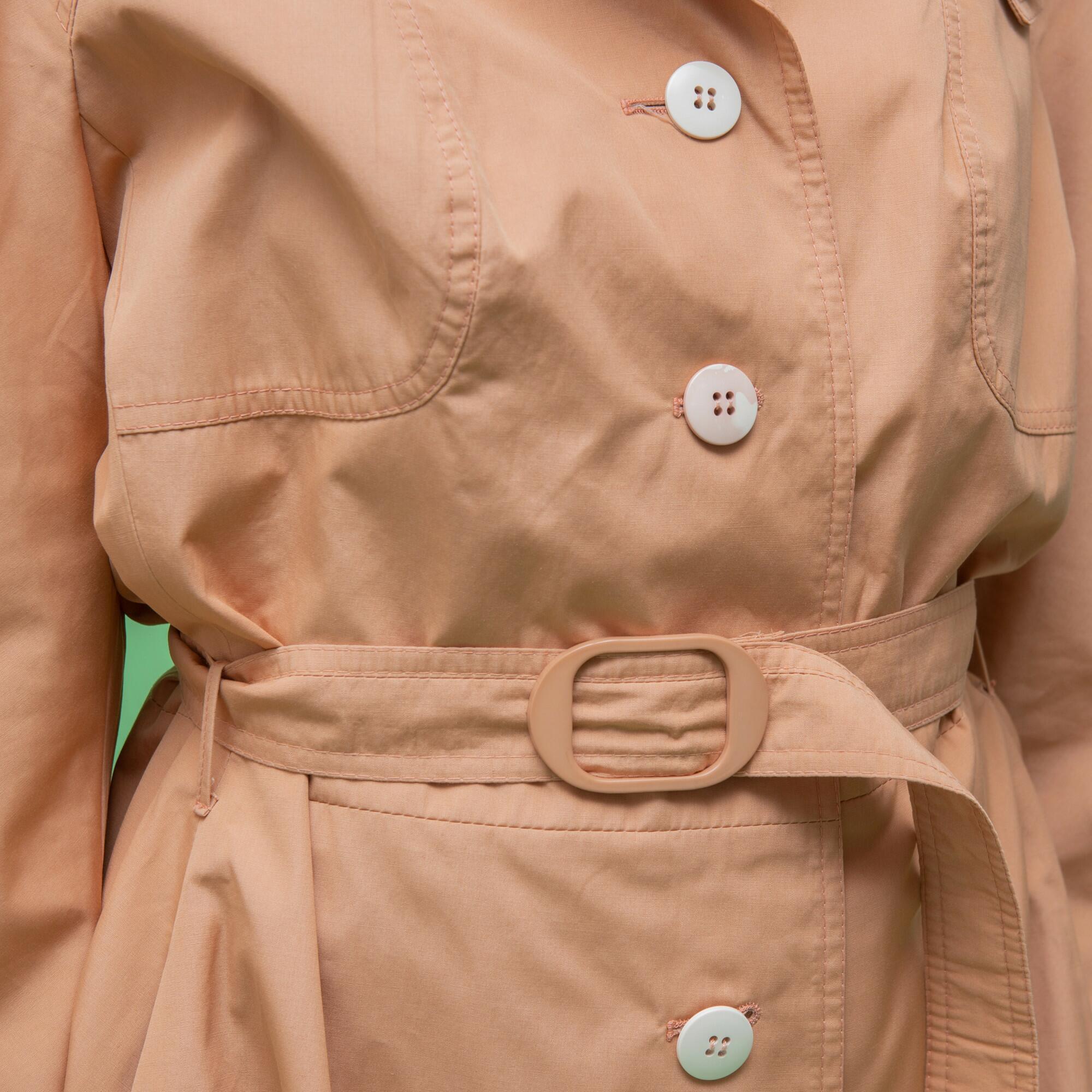 Wiosenny płaszcz w kolorze różowego szampana - KEX Vintage Store | JestemSlow.pl