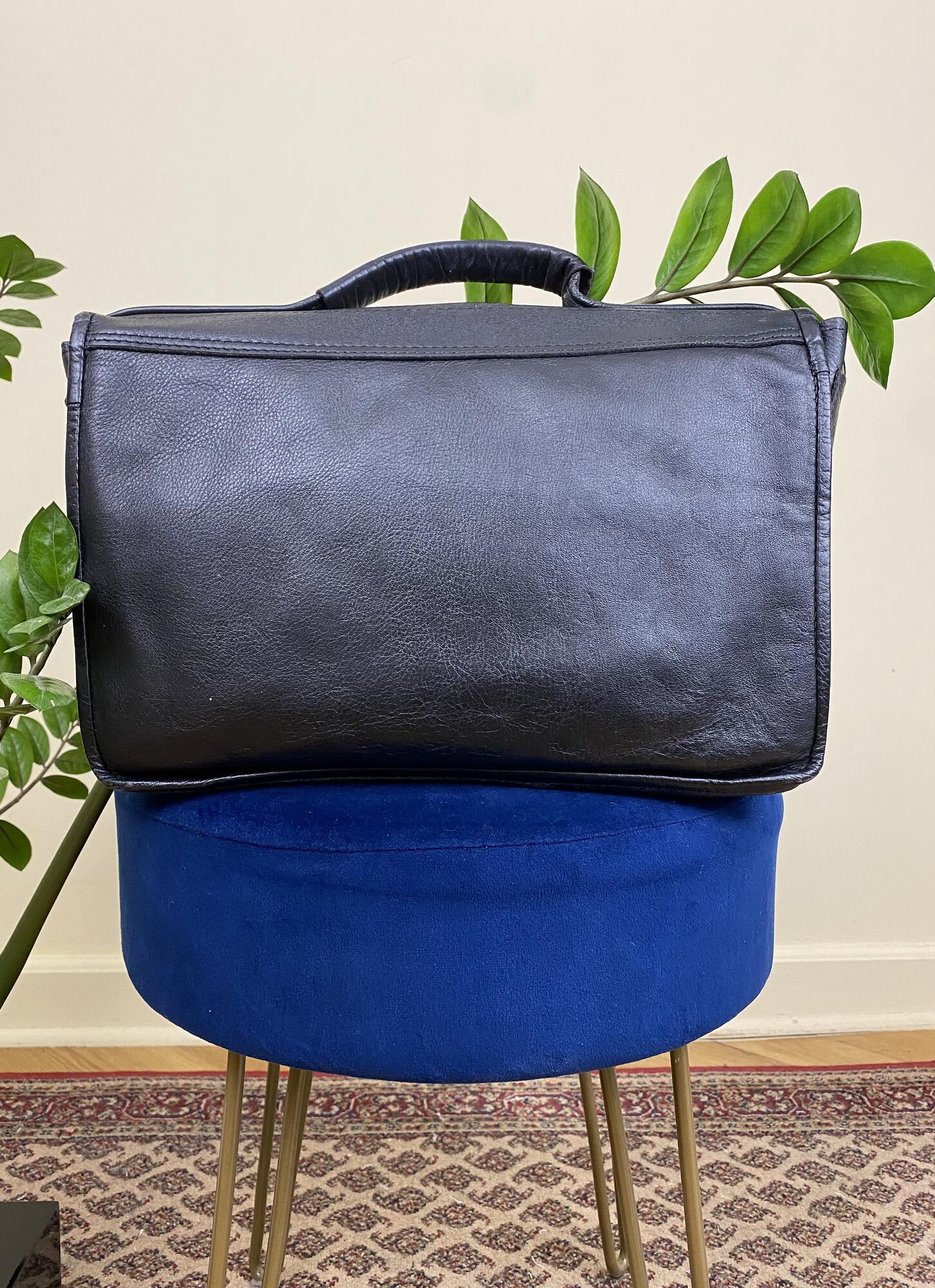 Czarna torba/teczka skórzana - Vintage Store | JestemSlow.pl