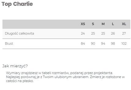 Top Charlie Grey Melange - LILY ZEAL | JestemSlow.pl