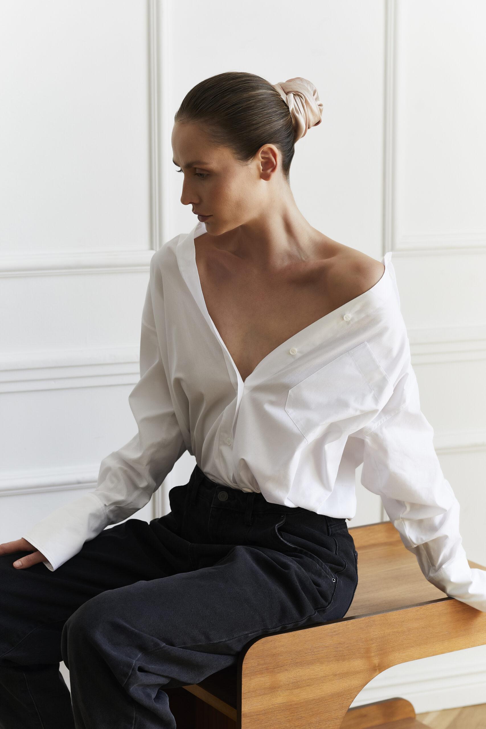 Jedwabna apaszka Sine Silk | BEIGE - Sine Silk | JestemSlow.pl