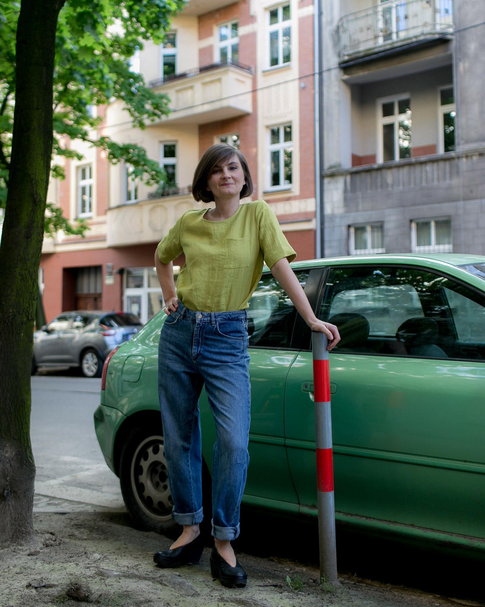Tshirt lniany zielony - Bäckerei Bytom | JestemSlow.pl