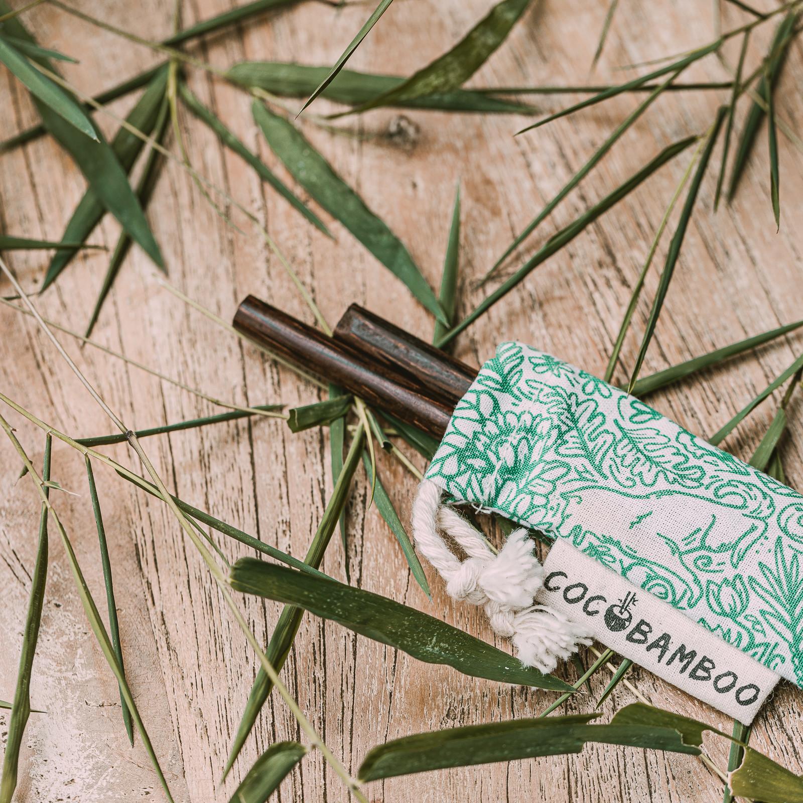 Kokosowe pałeczki w bawełnianym etui - COCOBAMBOO
