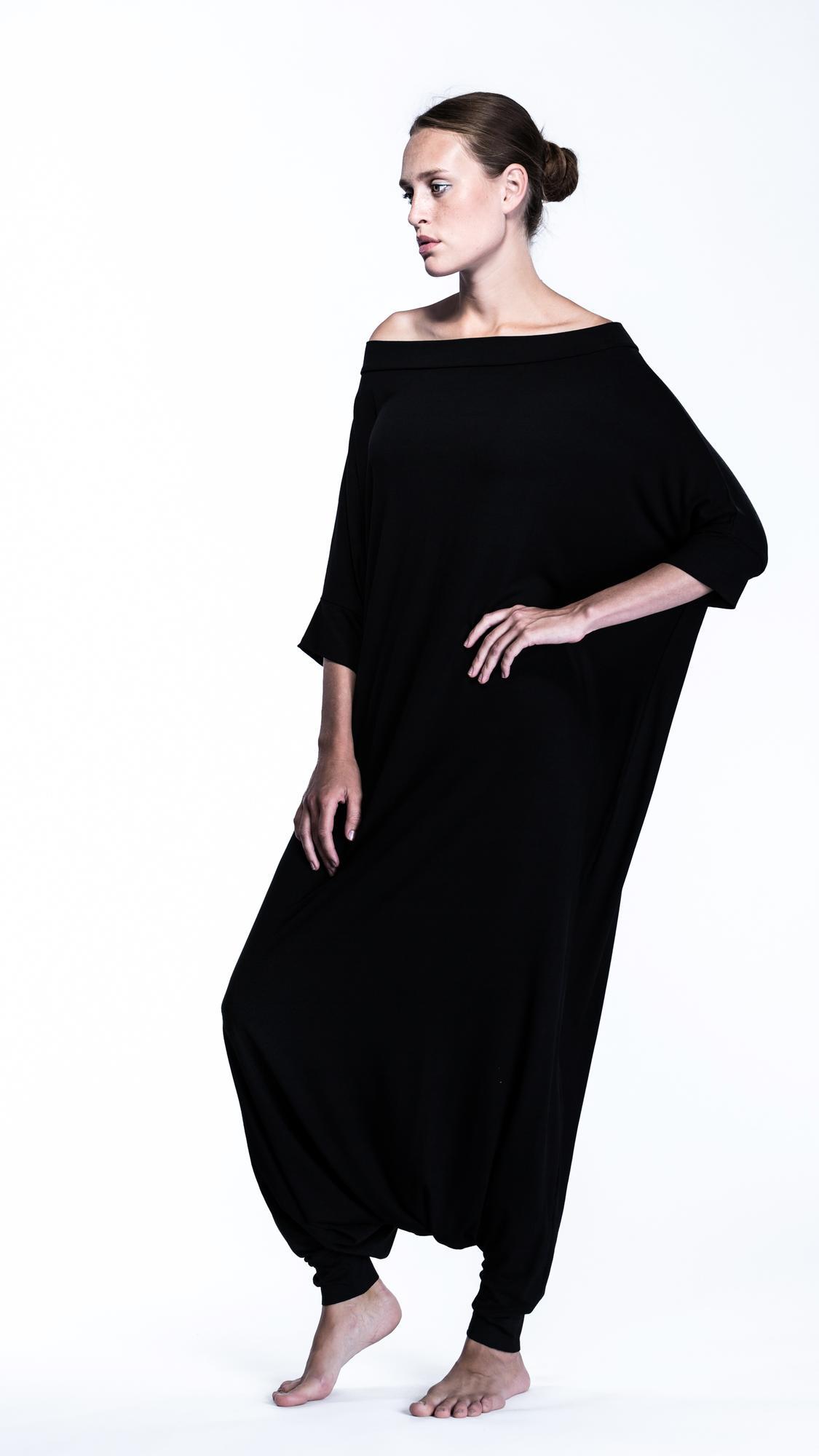 neckline sarouel jumpsuit - PUDU