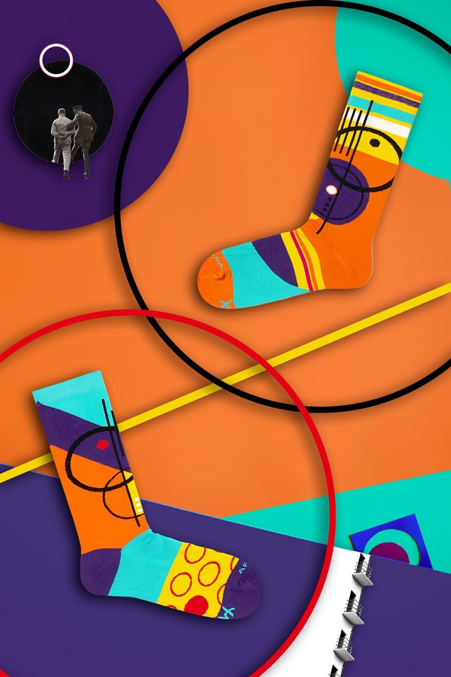 Kolorowe skarpetki - Bauhaus 1 - Takapara | JestemSlow.pl