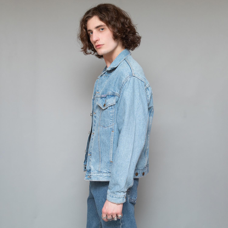 Jasna jeansowa kurtka - KEX Vintage Store   JestemSlow.pl