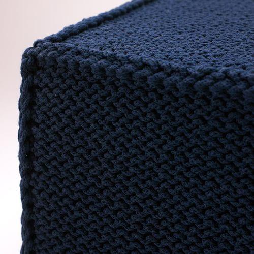 Puf do siedzenia Soft Flat dark blue - We Love Candles&We Love Beds