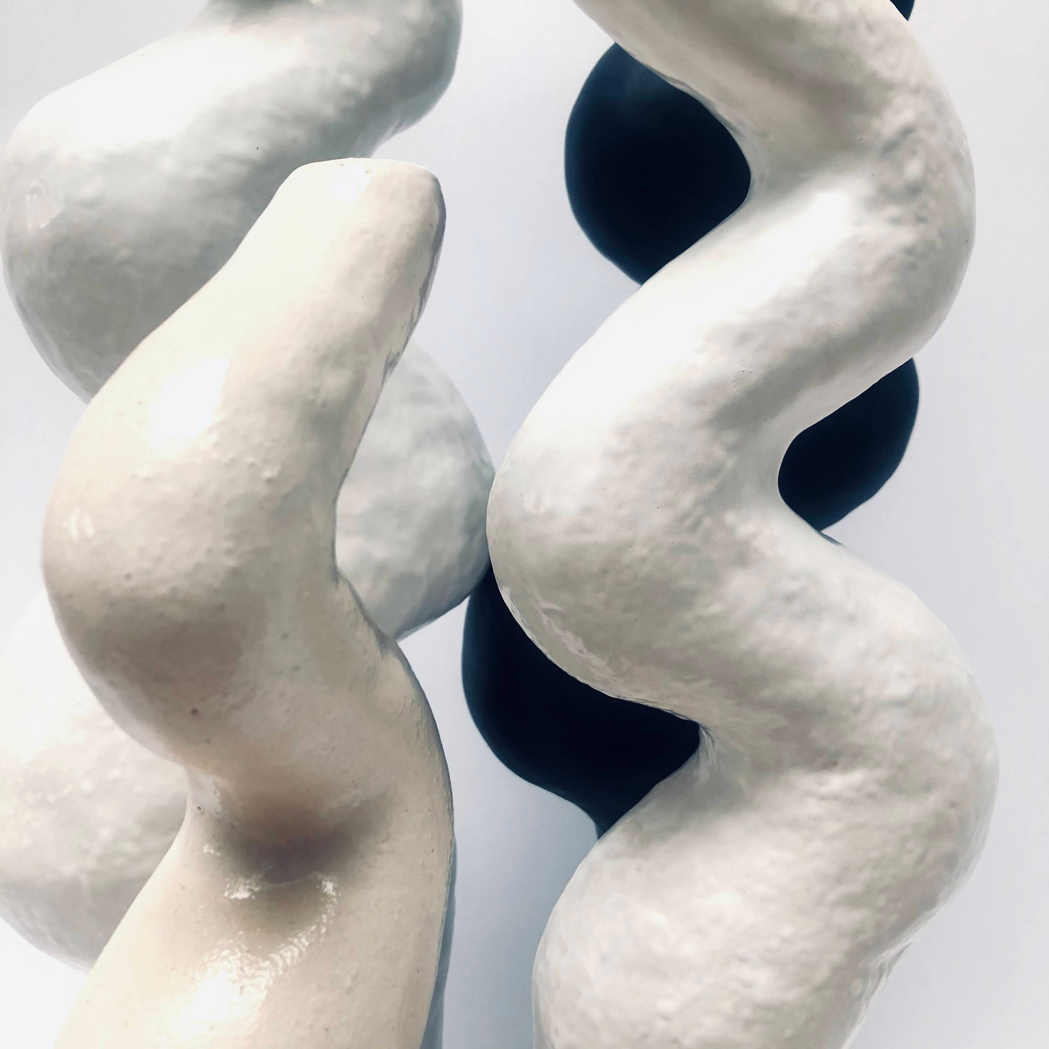 Obiekt ceramiczny ORGANICZNE biały - Lui & Clay | JestemSlow.pl
