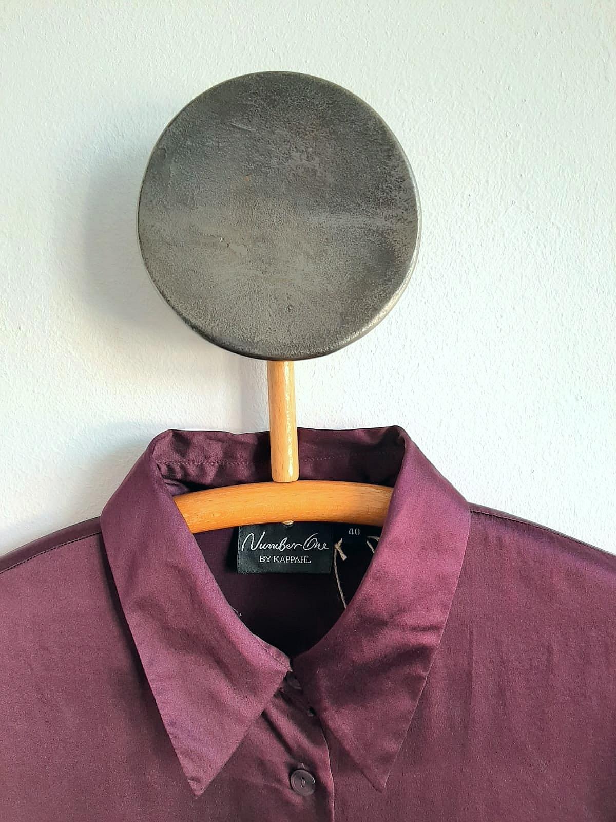 Jedwabna koszula w kolorze dojrzałej śliwki - PONOŚ SE vintage shop | JestemSlow.pl