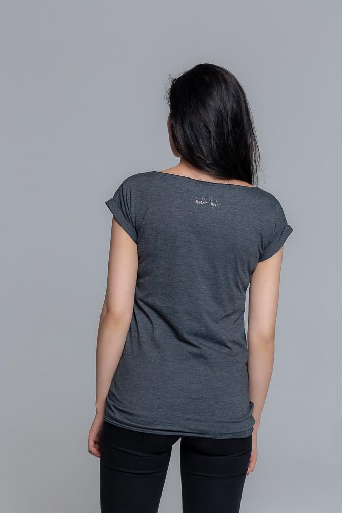 Koszulka z bawełny ekologicznej szara - Jimmy Jinx