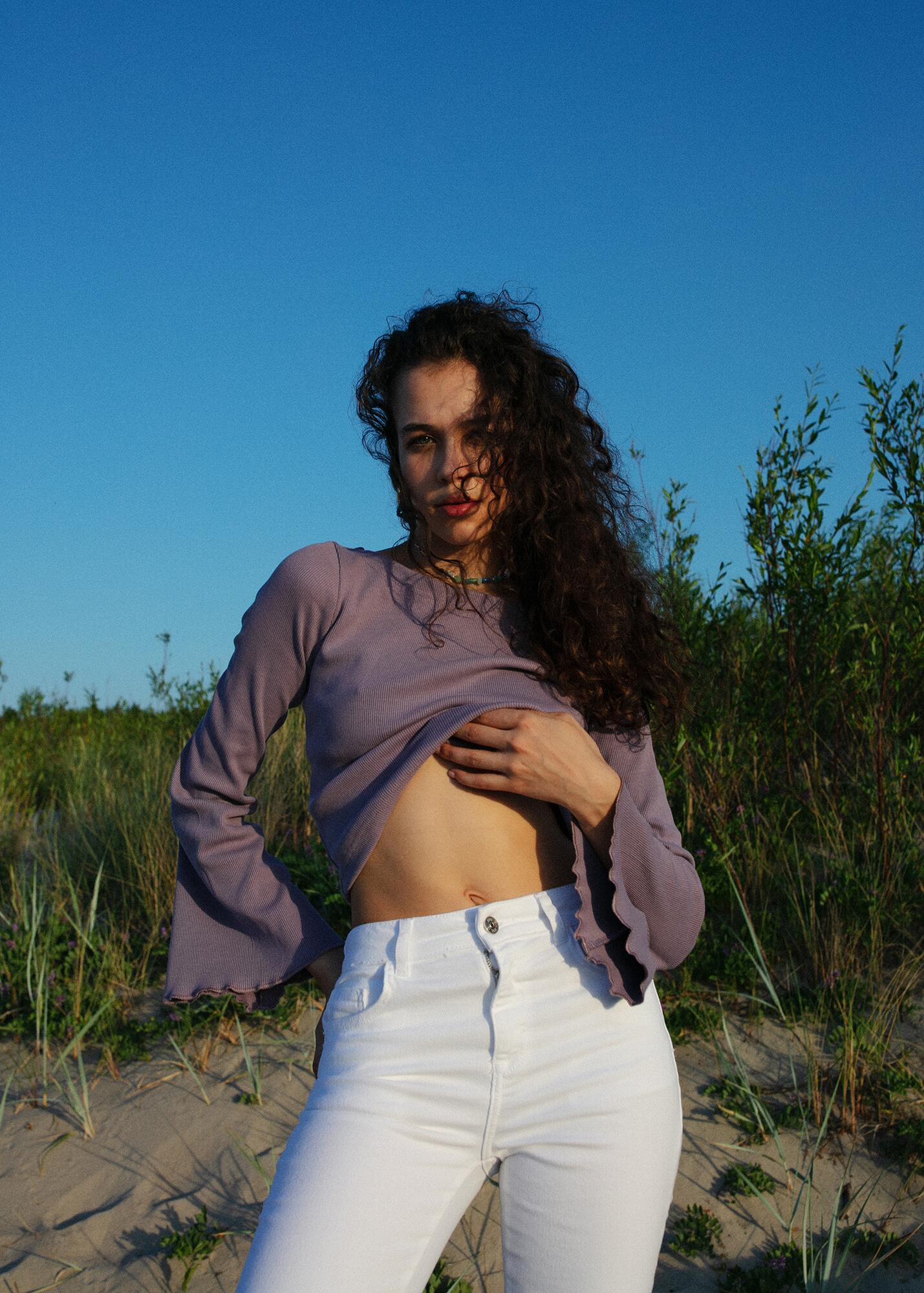 Bluzka HIPPIE Lavender - noszesztuke | JestemSlow.pl