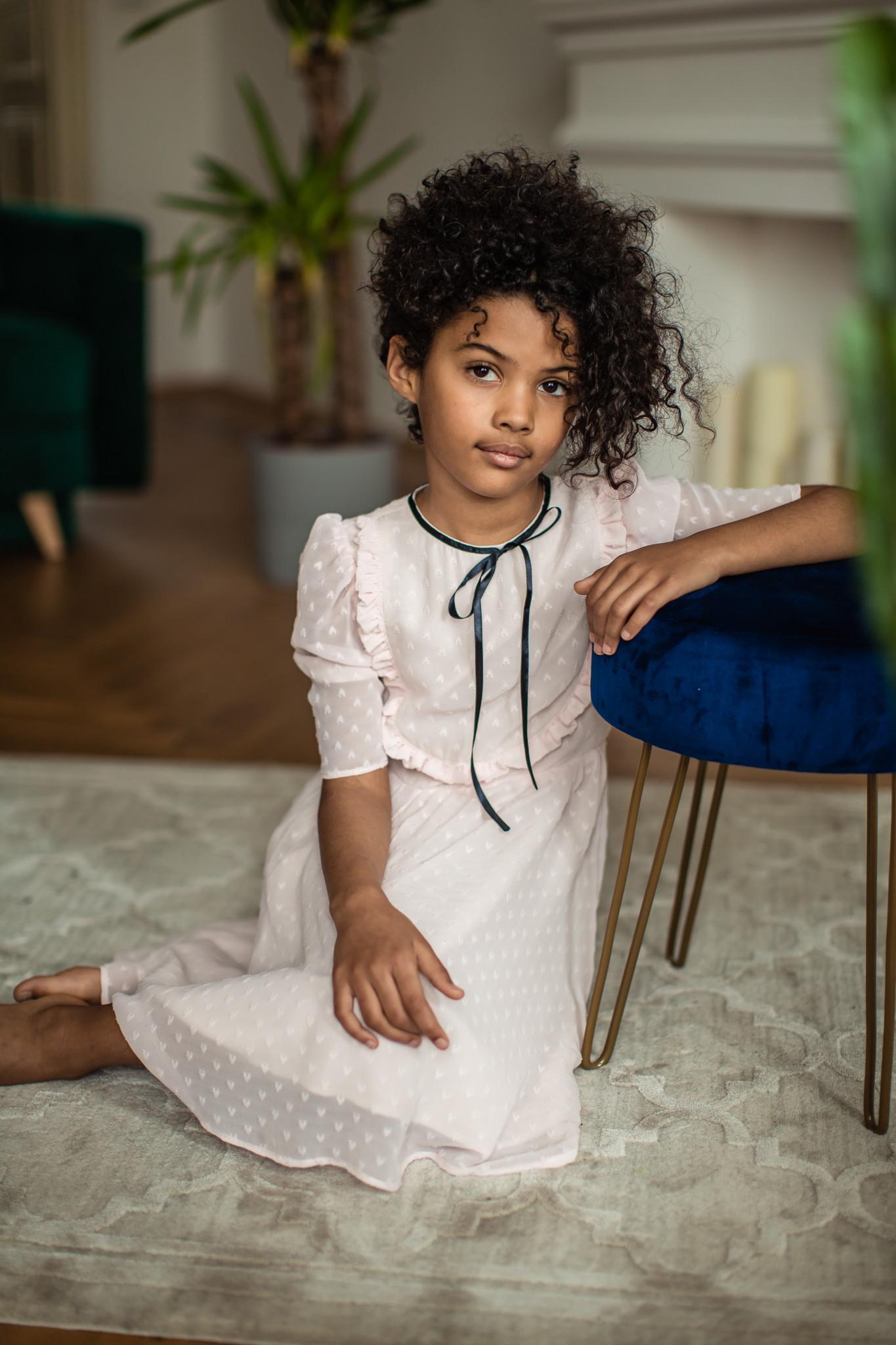 Sukienka pudrowy róż - Domino.little.dress   JestemSlow.pl