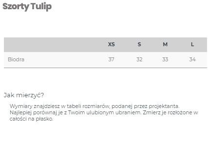 Szorty BLACK TULIP - LILY ZEAL | JestemSlow.pl