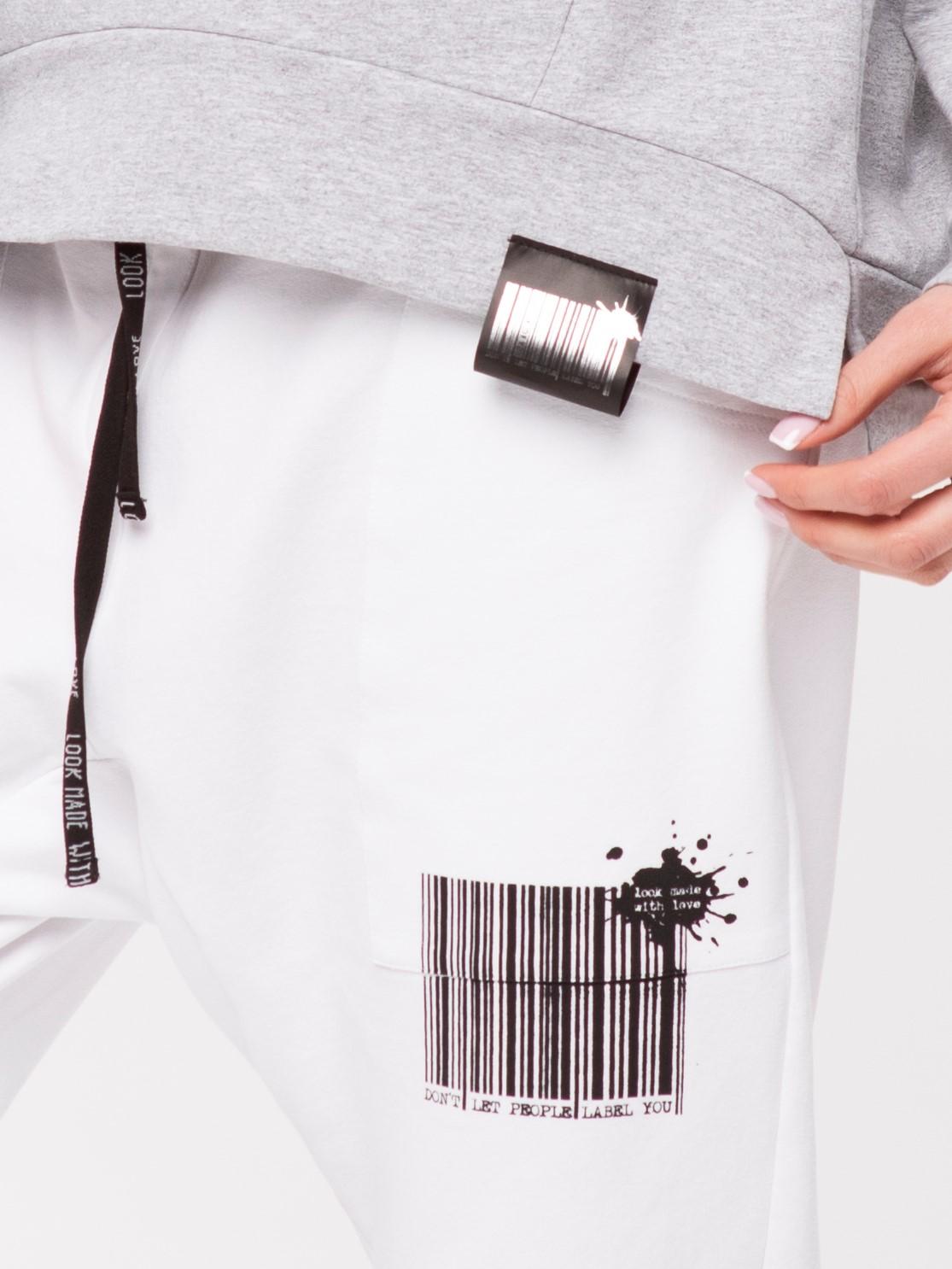 Spodnie dresowe z nadrukiem Kod Look 212 - LOOK made with Love   JestemSlow.pl