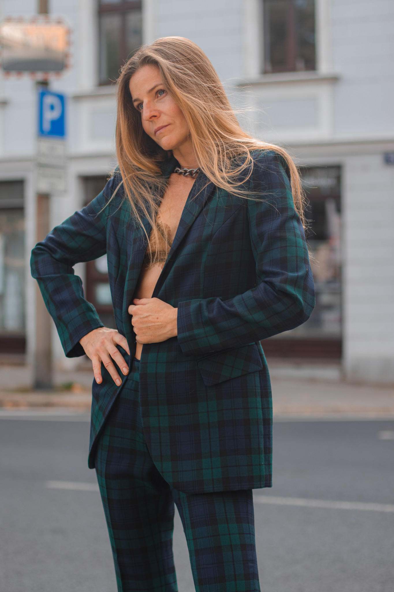 Marynarka SUIT? CHECKE(ER)! wełniana marynarka damska marynarka w kratę polski projektant - Renegade   JestemSlow.pl