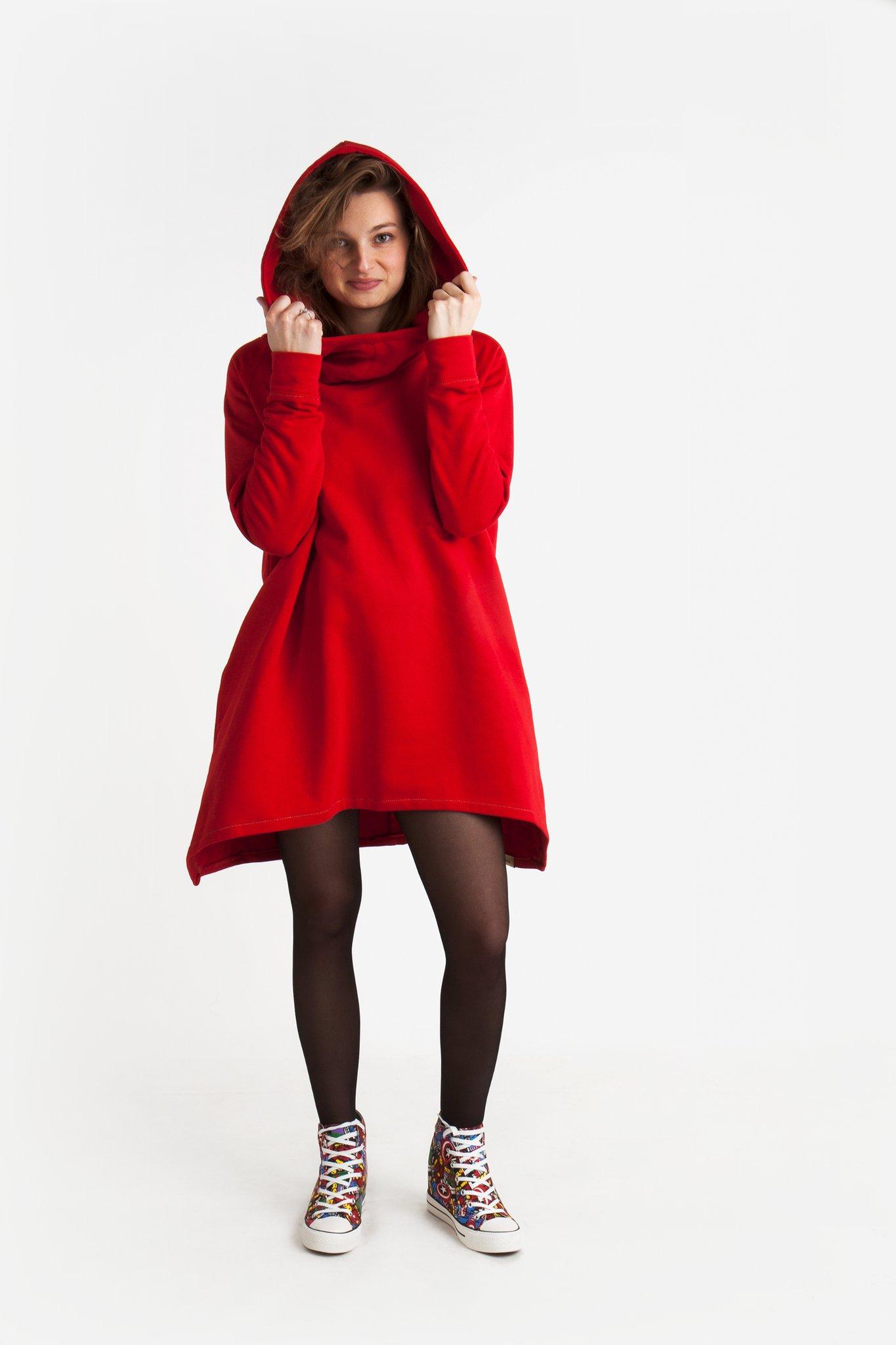 Czerwona Bluza B04 - BIJU