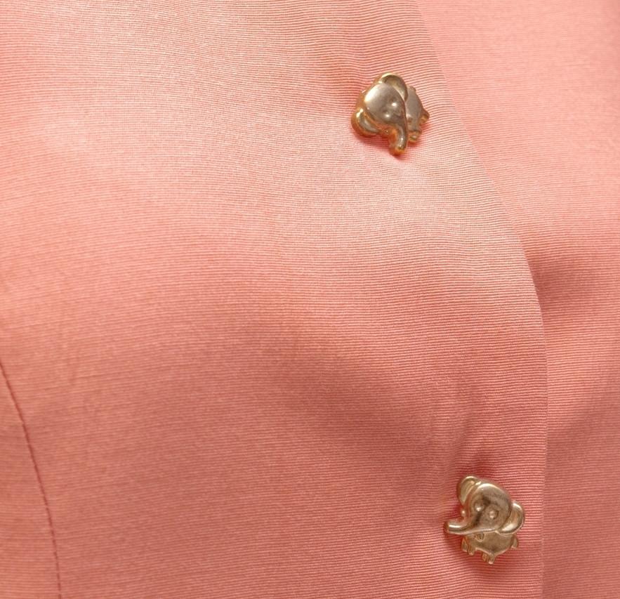 Różowa marynarka z guzikami w kształcie słoni - KEX Vintage Store | JestemSlow.pl