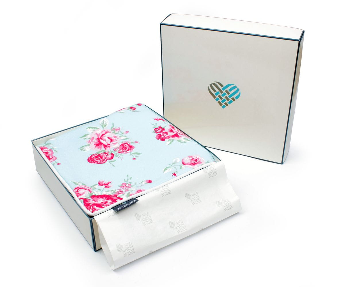 Poduszka dekoracyjna Roses Blue 40x60 cm - We Love Candles&We Love Beds