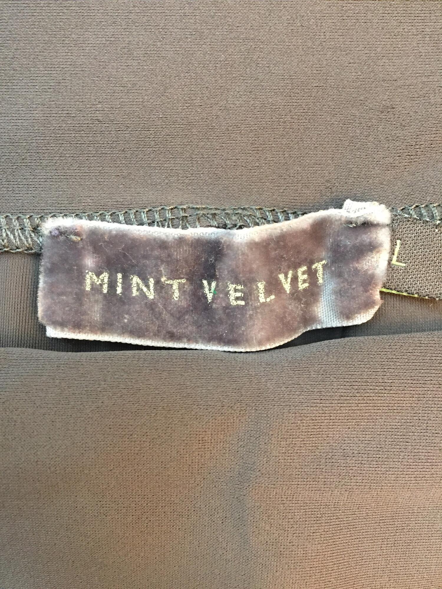 Leginsy Mint Velvet szare - Vintage Store | JestemSlow.pl