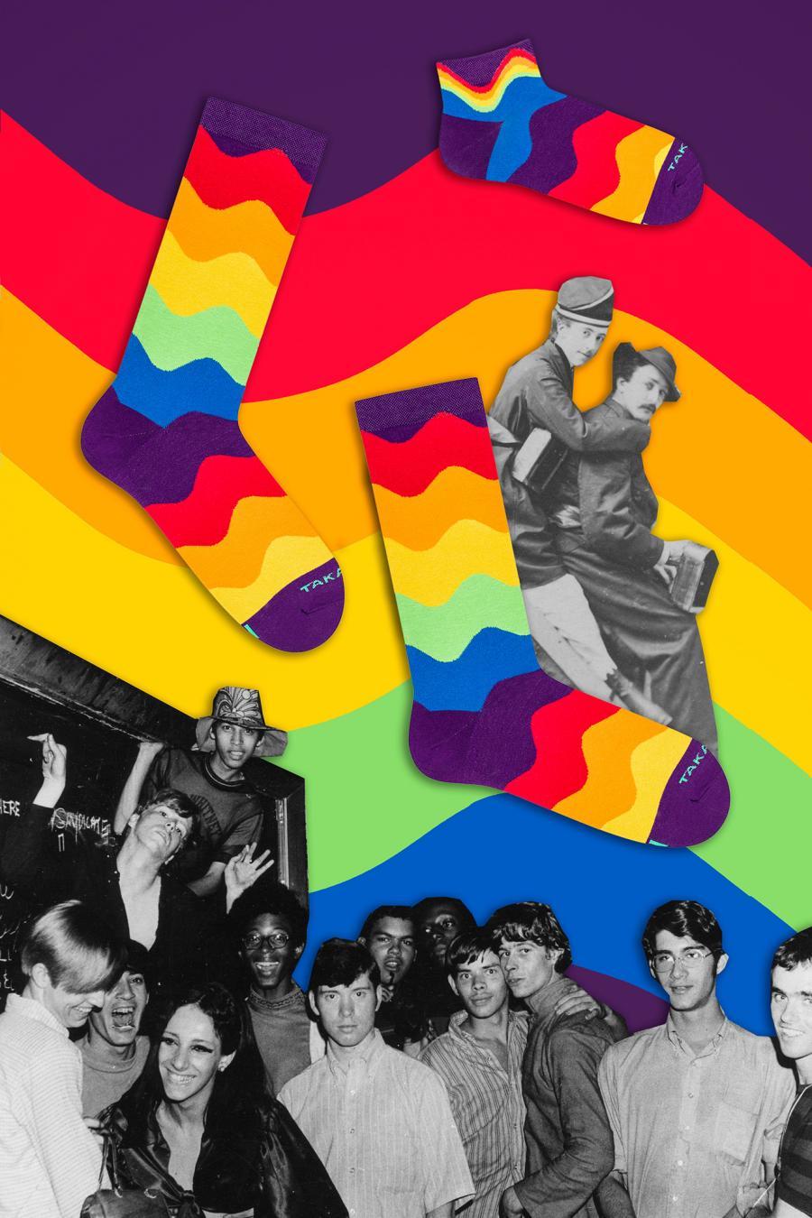 Kolorowe skarpetki - Tylna 99m4 - Takapara   JestemSlow.pl