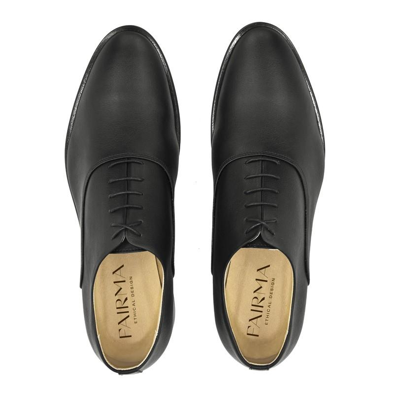 Oxfordy męskie HARRY CROSS czarne - Fairma Ethical Design | JestemSlow.pl