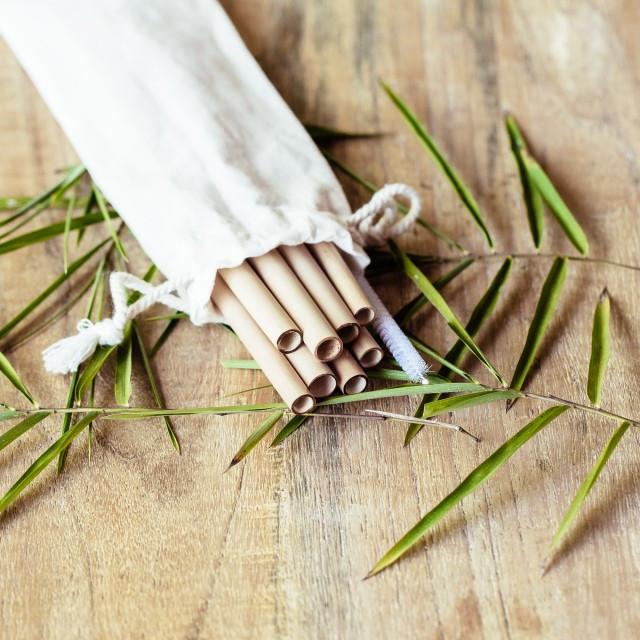 Bambusowe słomki do napojów - 8 sztuk - COCOBAMBOO