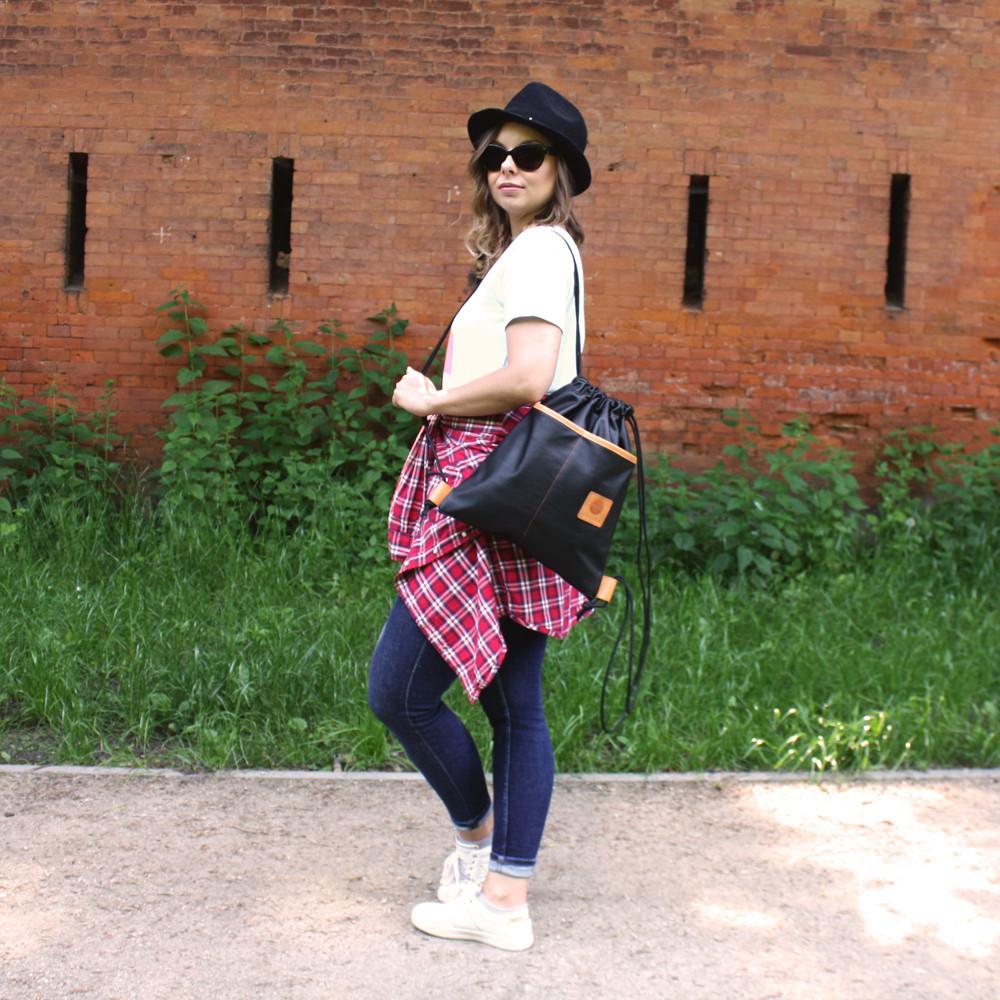 Worek skórzany La Bamba Czarny - Melika Fashion | JestemSlow.pl