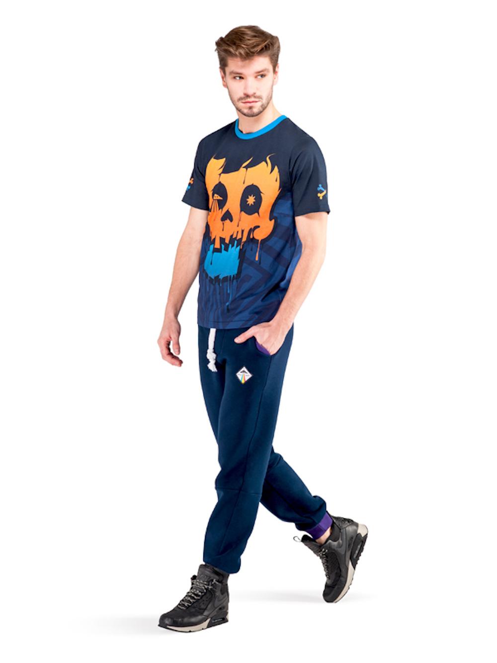 Crystal Skull T-shirt (Orange) - Okuaku