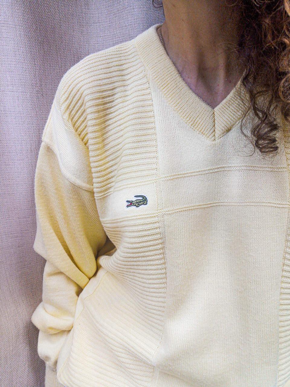 Słoneczny sweter od Lacoste - PONOŚ SE vintage shop   JestemSlow.pl