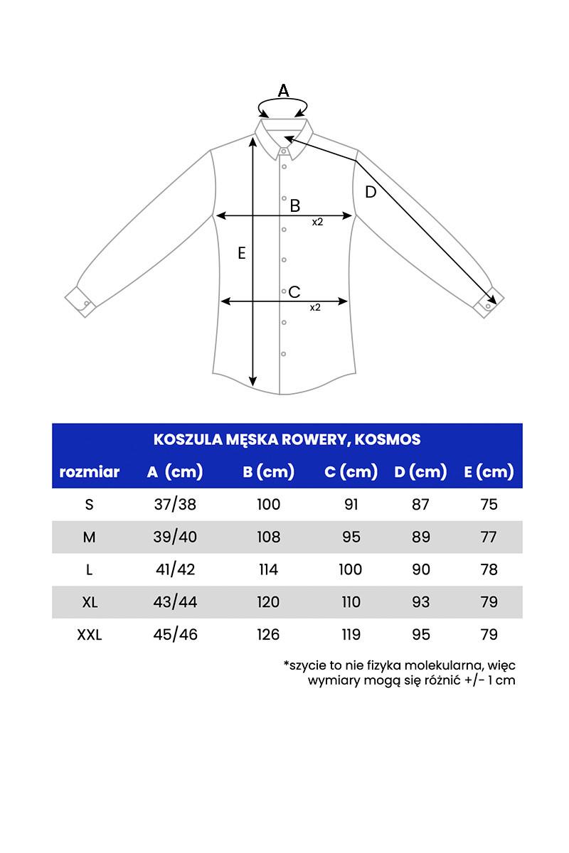 KOSZULA MĘSKA KOSMOS -GRANATOWA - Republic of Patterns
