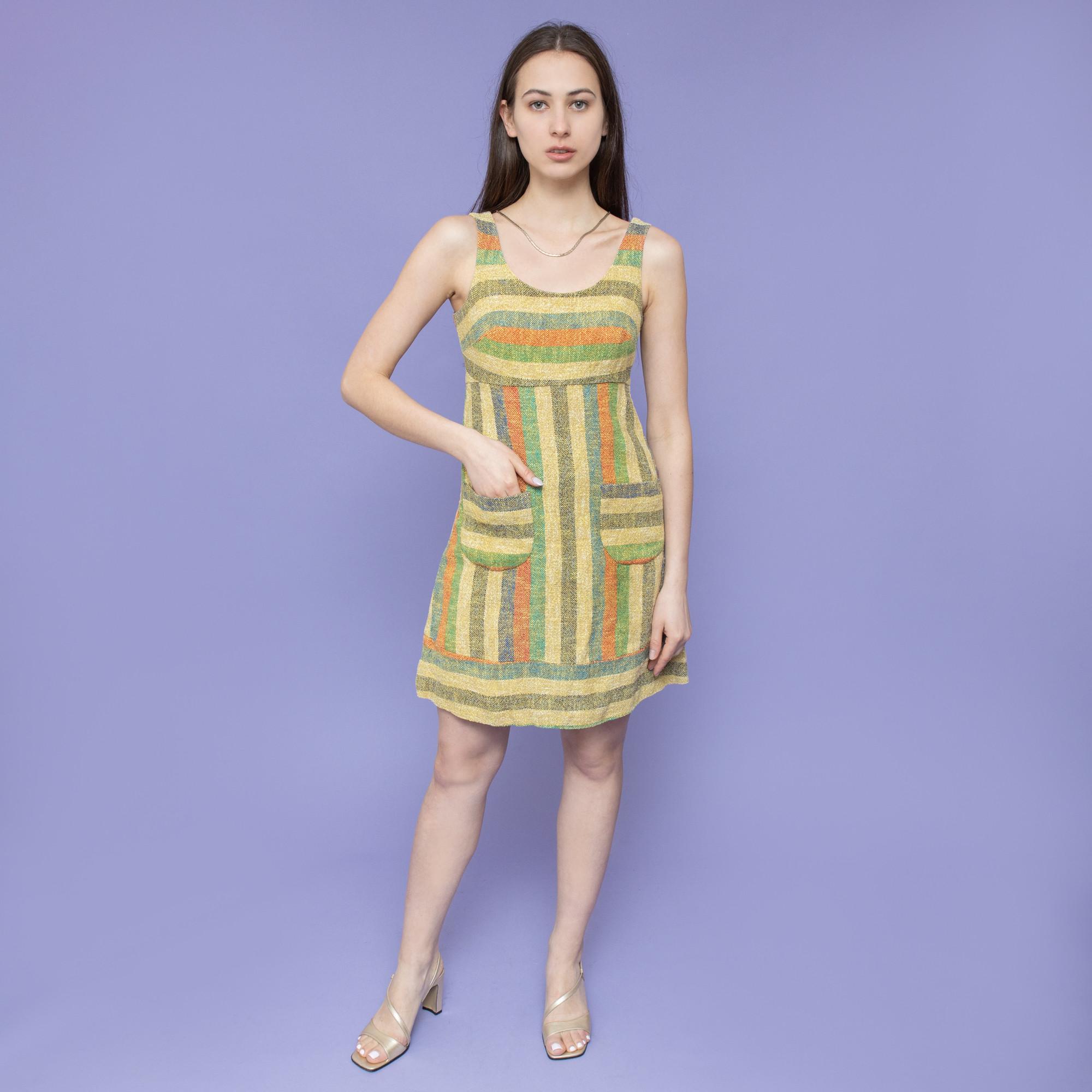 Sukienka w pasy lata 60-70-te - KEX Vintage Store | JestemSlow.pl