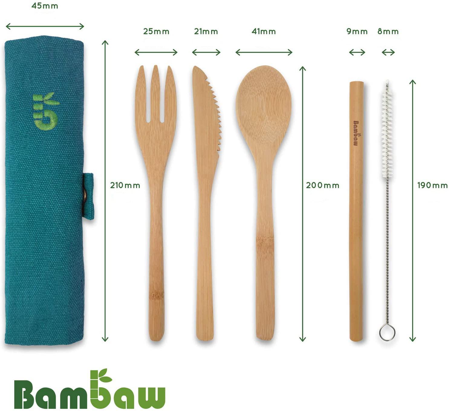 Wielorazowe sztućce bambusowe - SAKWABAG