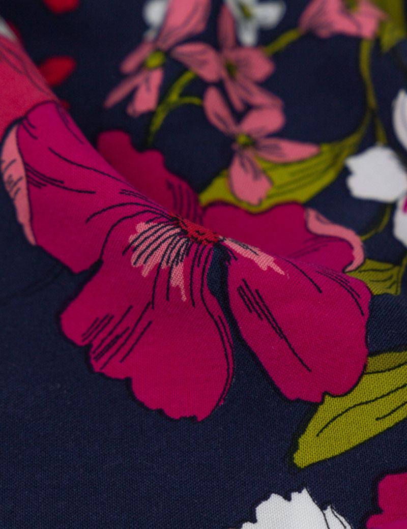 Sukienka z długim rękawem Emily Navy Loli-Pop - Slow Store | JestemSlow.pl