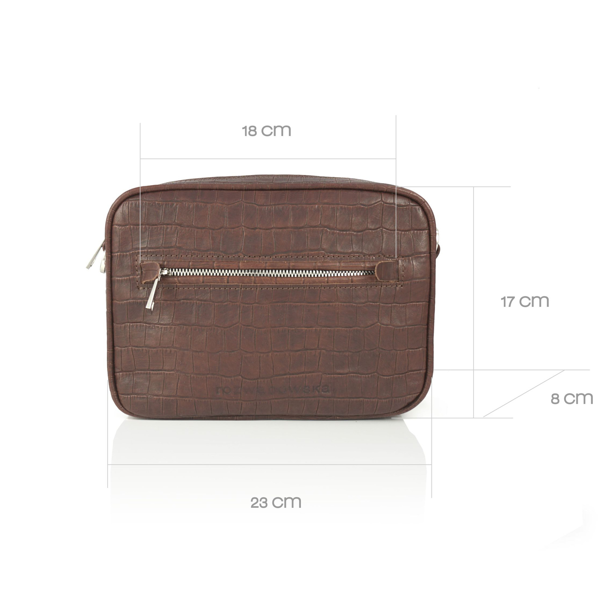 BOXY MIDI BORDO - torebka skórzana - torebka w kształcie pudełka - torebka na suwak - torebka na pasek - torebka w kolorze bakłażanu - Rozwadowska Bags   JestemSlow.pl