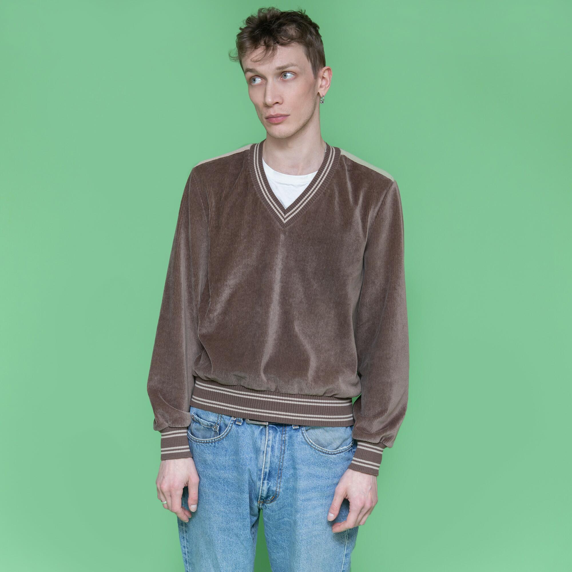 Bluza z weluru w kolorze orzechowym - KEX Vintage Store   JestemSlow.pl
