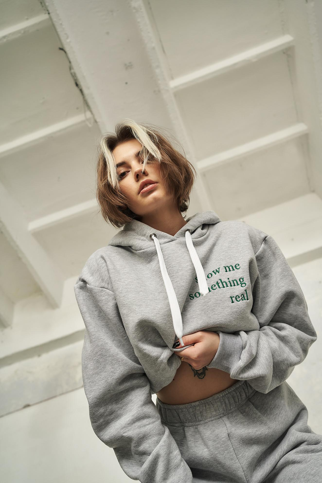 Something Real Grey Hoodie - whysoserious | JestemSlow.pl