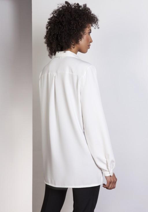 Koszula oversize, K108 ecru - Lanti   JestemSlow.pl