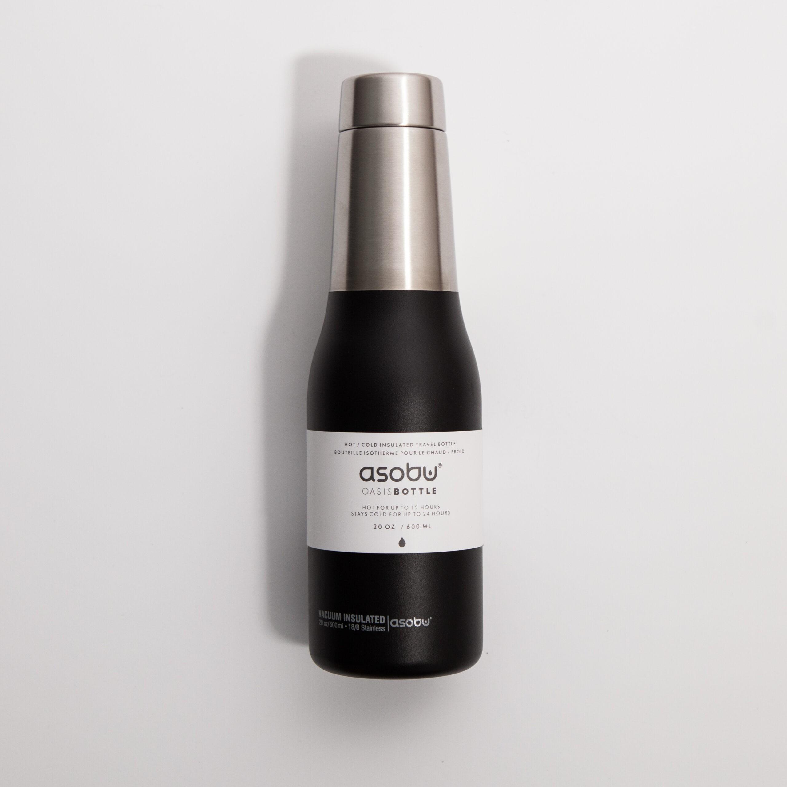 Asobu - Oasis Water Bottle Czarny - Butelka termiczna 600 ml - Coffee Gang | JestemSlow.pl