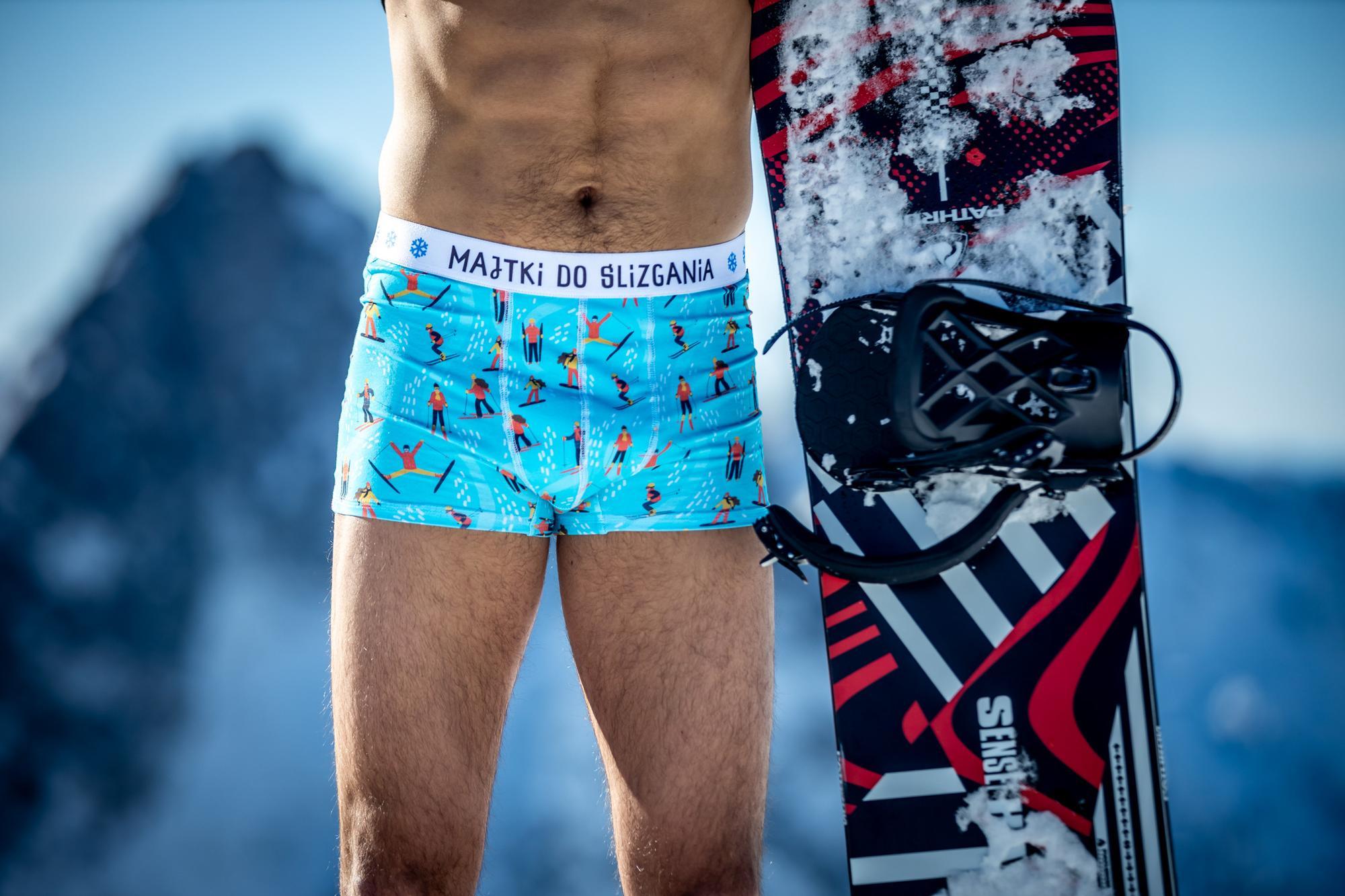 Majtki do ślizgania - Bokserki bawełniane męskie turkusowe niebieskie błękitne kolorowe - Majtki z Sosnowca by After Panty