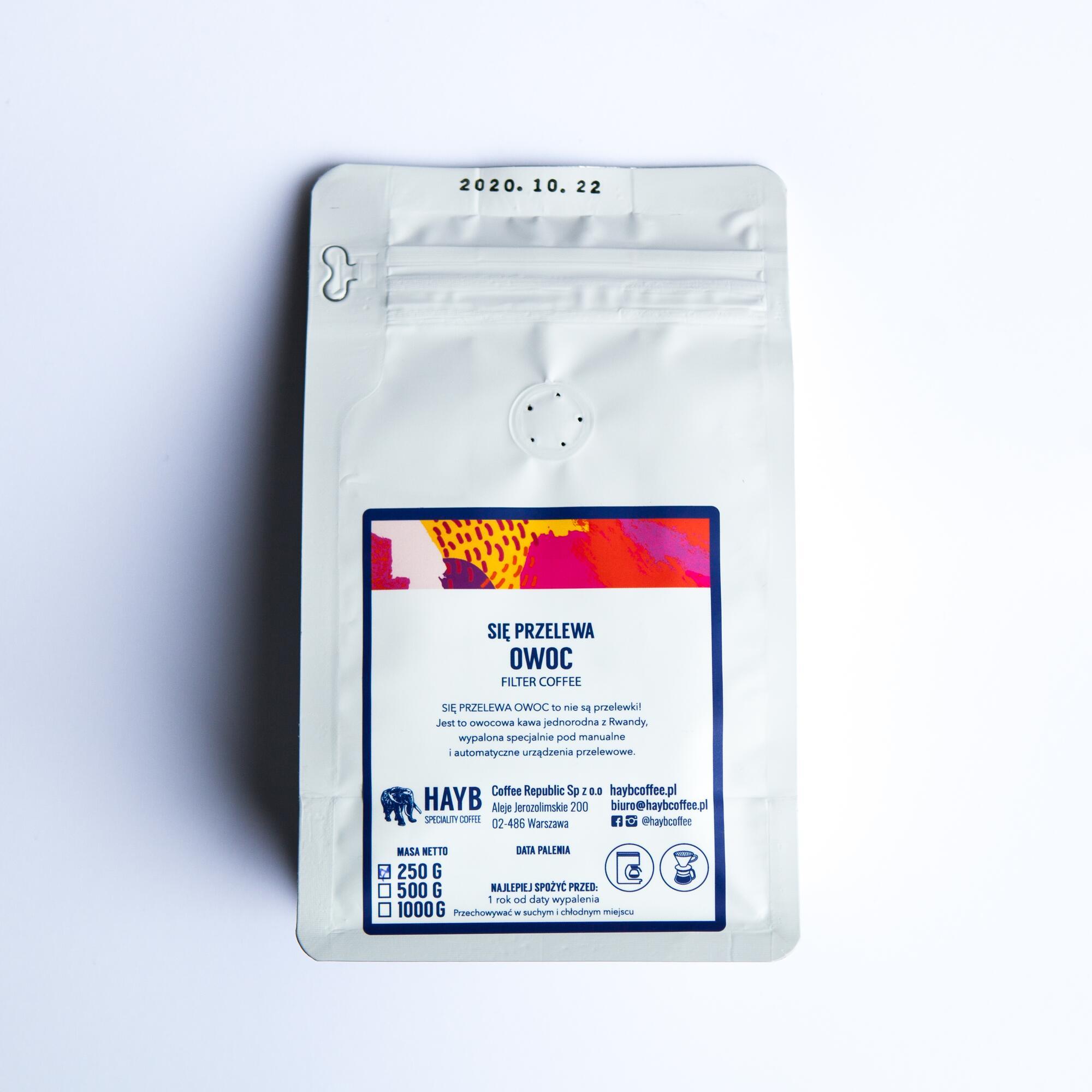 HAYB Się Przelewa Owoc 250g - Coffee Gang | JestemSlow.pl