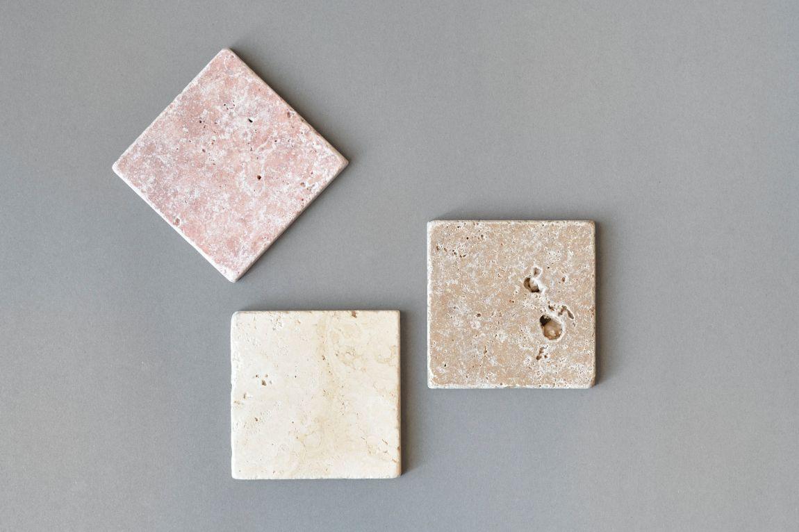 Kamienna podstawka pod kubek Treve #1 w kolorze różowym - Steil