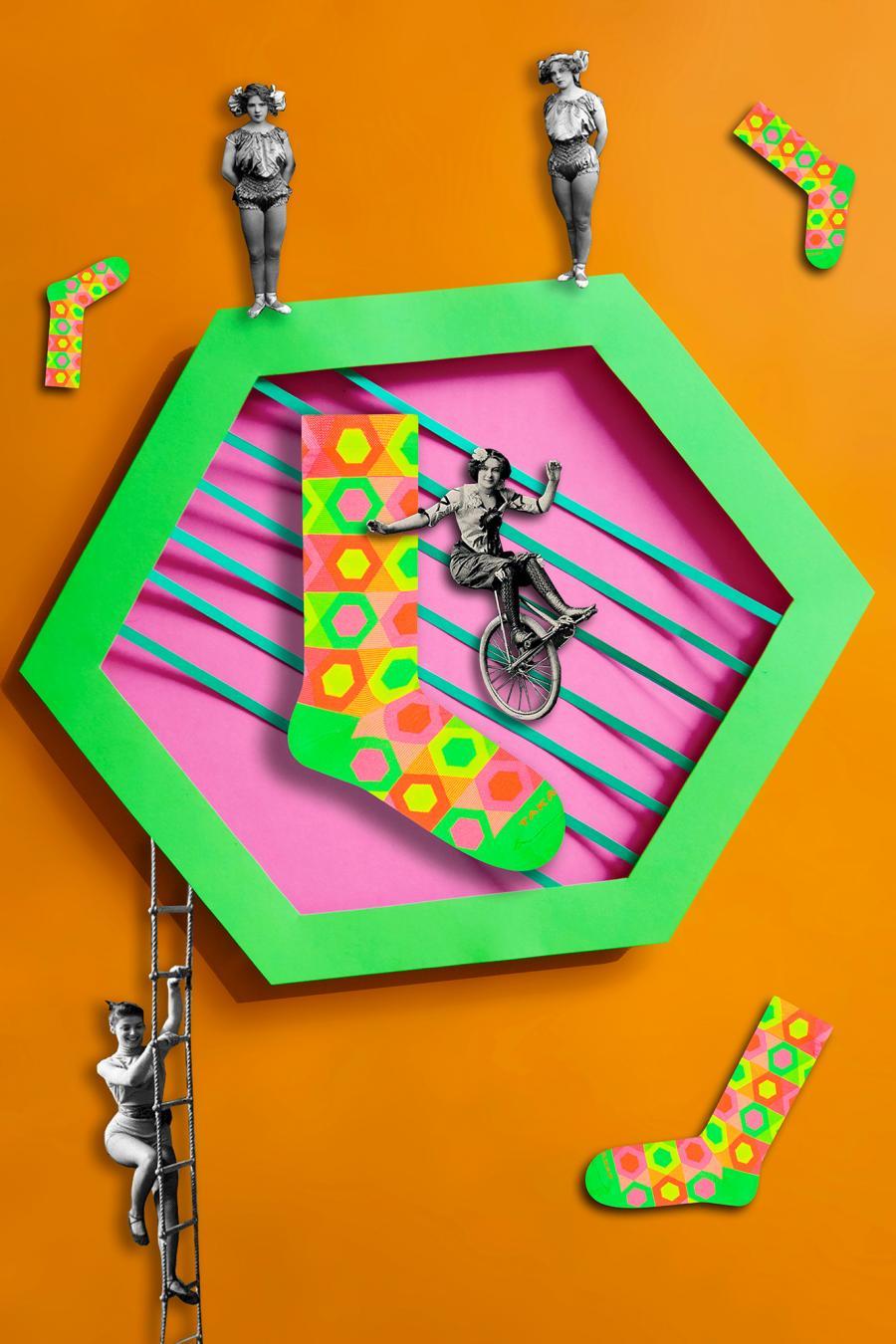 Kolorowe skarpetki - Neonowa 90m1 - Takapara | JestemSlow.pl