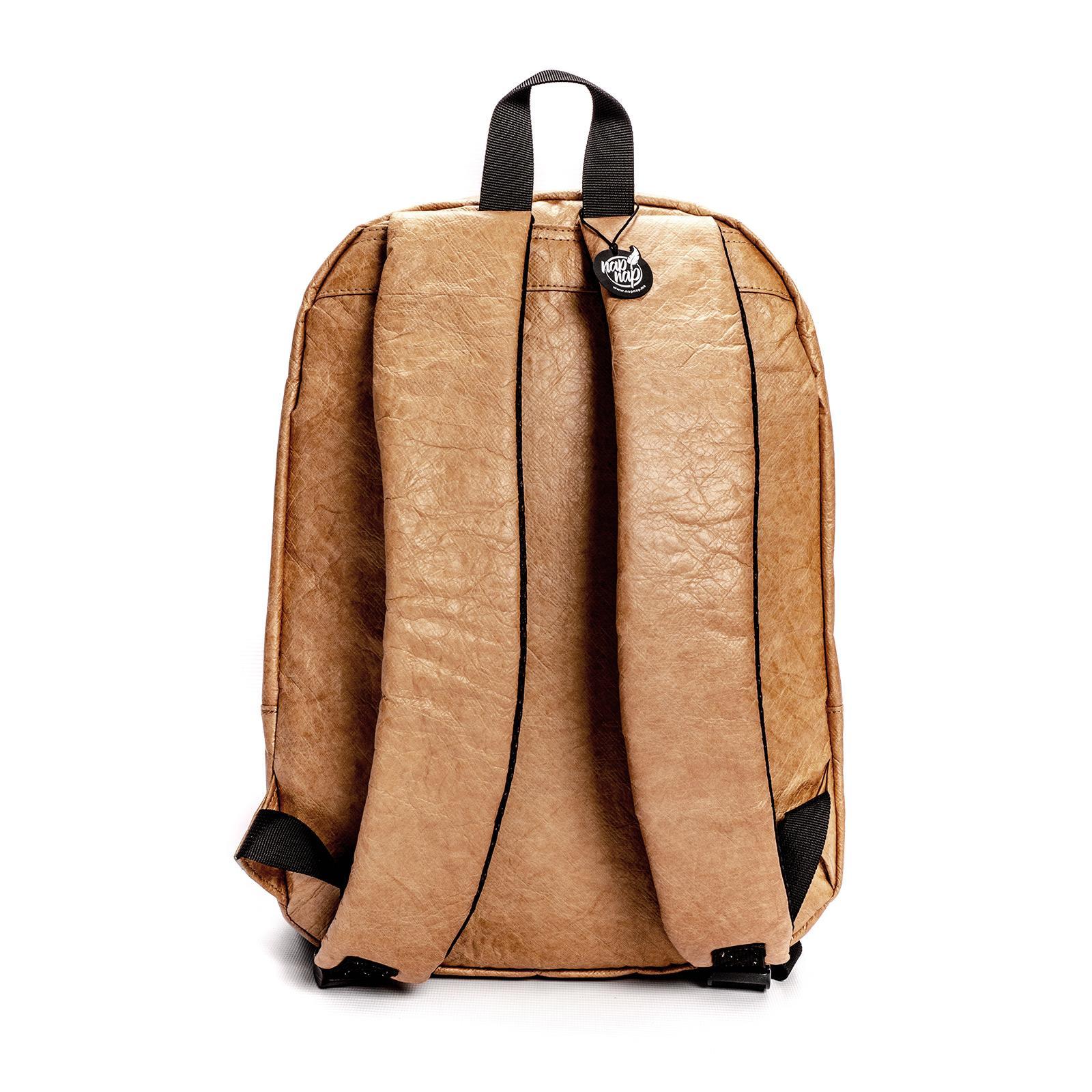Plecak jasnobrązowy z tyveku Miejski Lans z papieru - Napnap