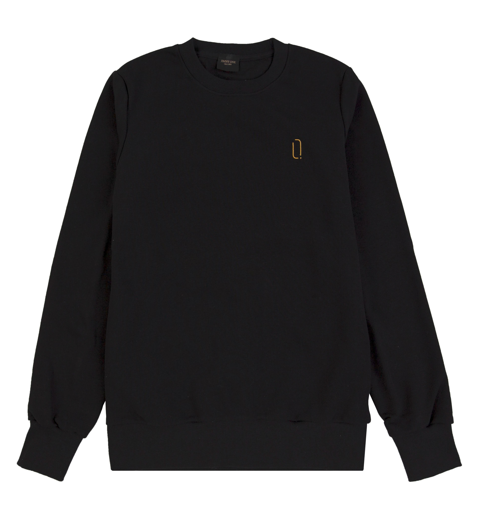 Czarna bluza unisex z haftem bez kaptura CREWNECK LOGO BLACK - Jimmy Jinx