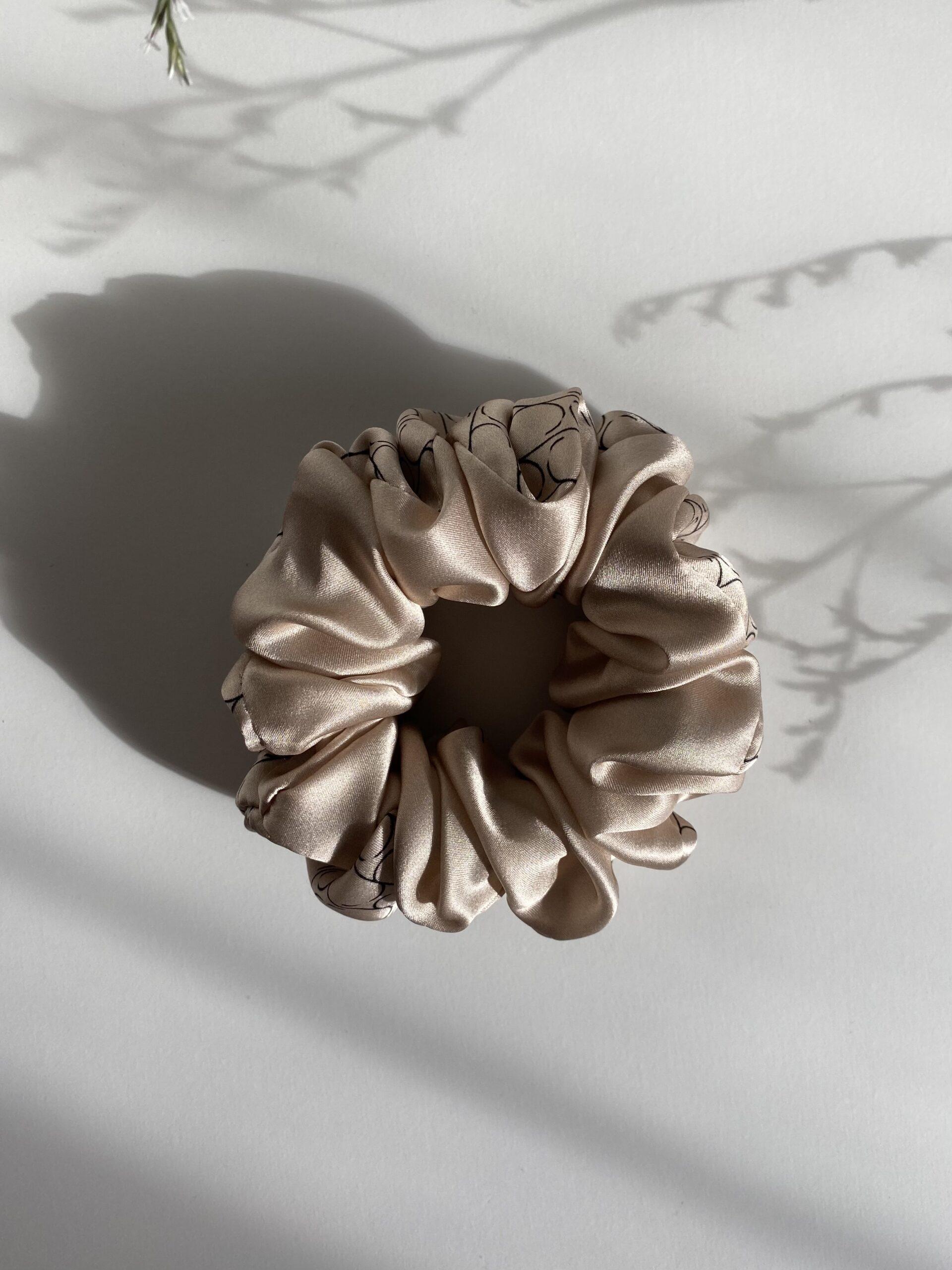 Jedwabna gumka do włosów Sine Silk CREAM - Sine Silk | JestemSlow.pl