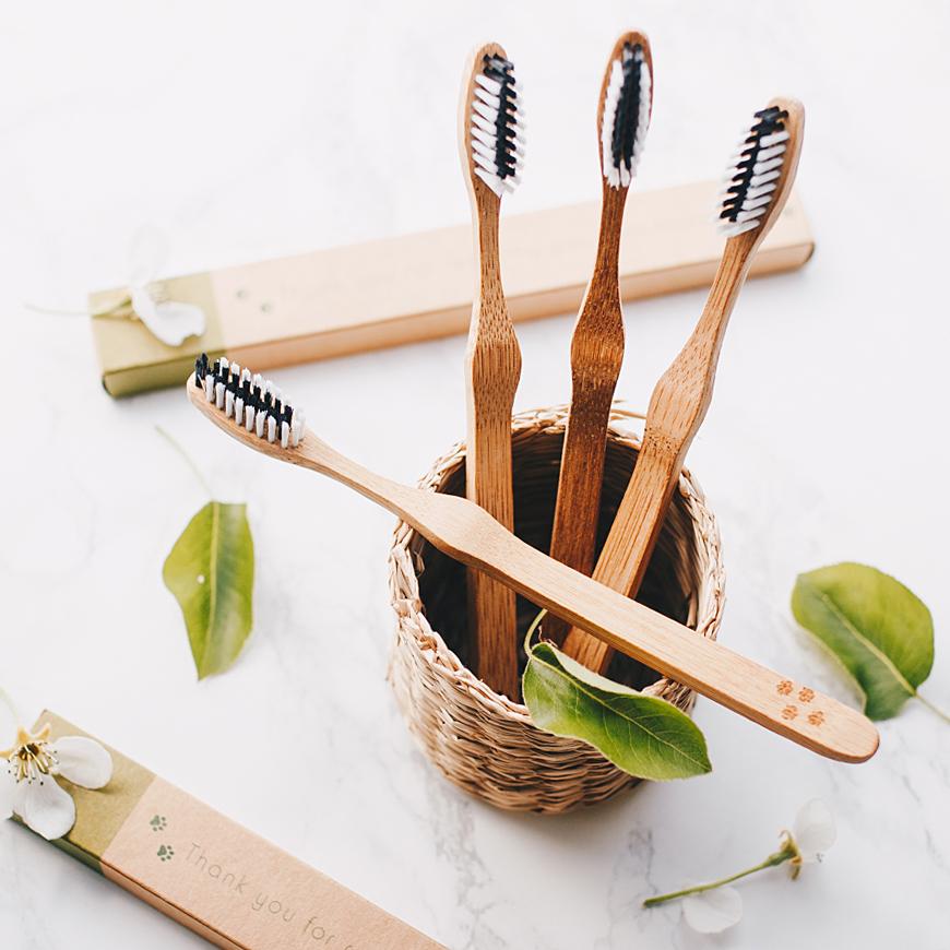 Szczoteczka bambusowa 1 szt - SAKWABAG