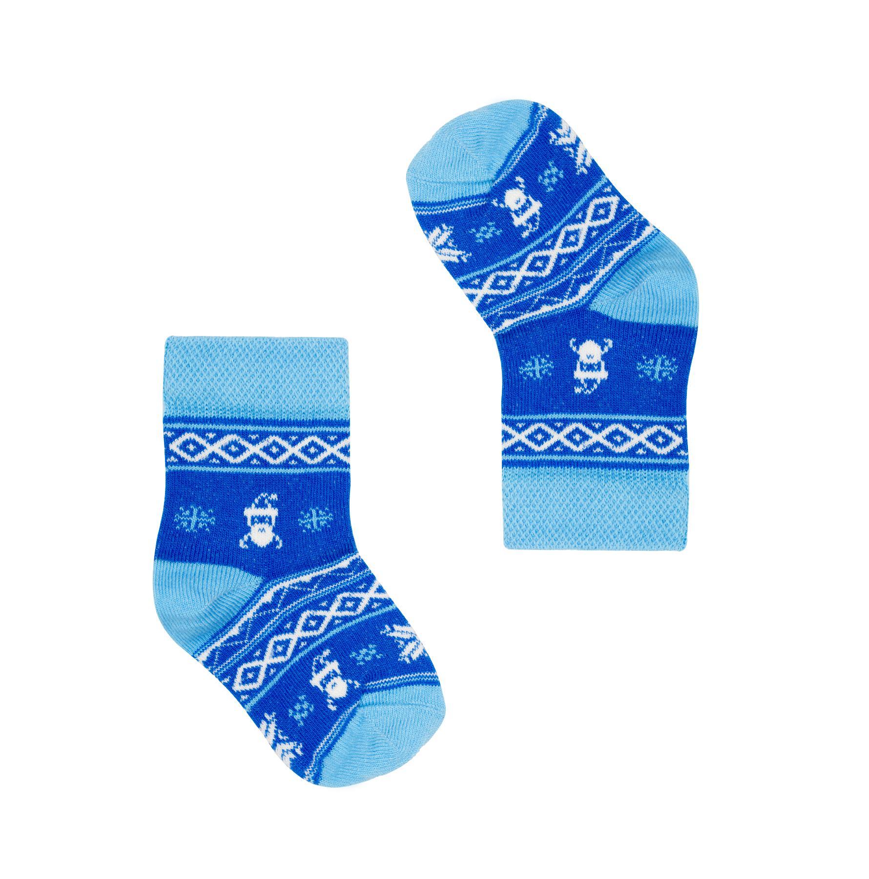 Kolorowe Skarpetki niemowlęce w mikołaje - FAVES. Socks&Friends